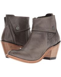b38be63ba8f Lyst - Old West Boots Zippered Ankle Boot in Black