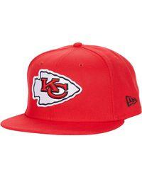 KTZ Nfl Basic Snap 9fifty Snapback Cap - Kansas City Chiefs - Red