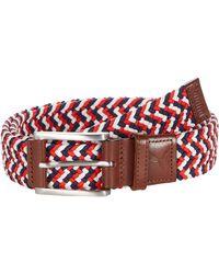PUMA Pars And Stripes Weave Belt - White