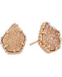 Kendra Scott - Tessa Earring (gold/rose Quartz) Earring - Lyst