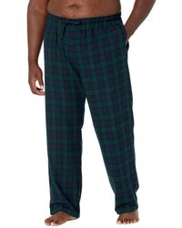 L.L. Bean Scotch Plaid Flannel Sleep Pants Tall - Black