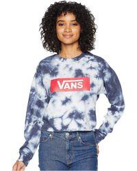 Vans - Sky Glow Crew (vintage Indigo Cloud Wash) Women's Clothing - Lyst