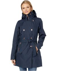 Helly Hansen Welsey Ii Trench Rain Jacket Navy - Blue