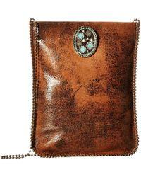Leatherock - Ce34 (brandy) Cross Body Handbags - Lyst