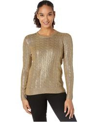 Lauren by Ralph Lauren Cable-knit Sweater - Metallic