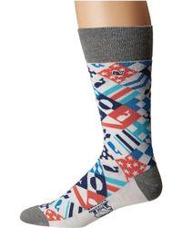 Vineyard Vines Kentucky Derby Patchwork Socks (multi) Men's Crew Cut Socks Shoes - Blue