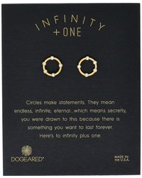 Dogeared - Infinity + One, Small Halo Stud Earrings - Lyst