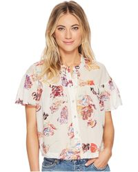 Free People - Sweet Escape Button Down Top - Lyst