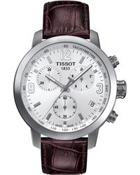 Tissot - Prc 200 Chronograph - T0554171601701 (mother-of-pearl/brown) Watches - Lyst
