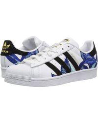 adidas Originals - Superstar W (white/ash Green/silver Metallic) Women's Classic Shoes - Lyst