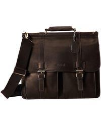 Kenneth Cole Reaction - Colombian Leather - Dowel Rod/portfolio Computer Case (black) Briefcase Bags - Lyst