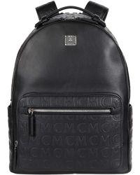 MCM - 40 Stark Monogram Leather Backpack - Lyst