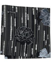 Eton of Sweden - Floral Pocket Square (black) Ties - Lyst