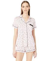 Kate Spade Dotted Short Pajama Set - Pink