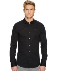 4d1a5101 Tommy Hilfiger - Original Stretch Long Sleeve Shirt (tommy Black) Men's  Clothing - Lyst