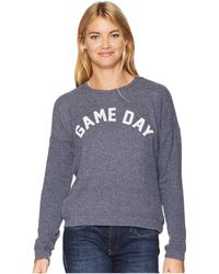 The Original Retro Brand - Game Day Super Soft Hacci Pullover (navy Haaci) Women's Clothing - Lyst