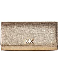 MICHAEL Michael Kors - Mott Large East/west Clutch (pale Gold) Clutch Handbags - Lyst