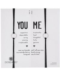Dogeared - Friendship Sparkle Ring Bracelet Set - Lyst