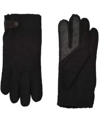 UGG Water Resistant Sheepskin Side Tab Tech Gloves - Black