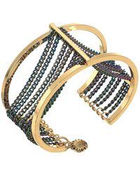 BCBGeneration Rainbow Multi Chain Cuff Bracelet - Metallic