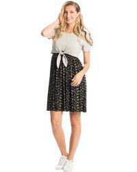 Everly Grey Lehua Maternity/nursing Dress - Black