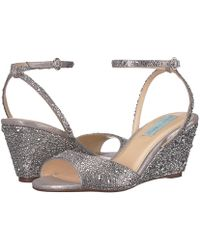 Betsey Johnson - Elora (silver) Women's Wedge Shoes - Lyst