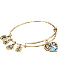 ALEX AND ANI - Charity By Design - Living Water Ii Bangle (rafaelian Silver) Bracelet - Lyst