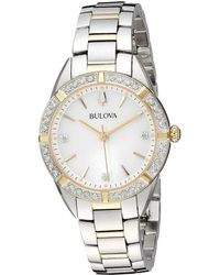Bulova - Classic Sutton - 98r263 (two-tone Gold) Watches - Lyst