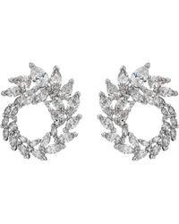 Swarovski - Louison Hoop Pierced Earrings (white) Earring - Lyst