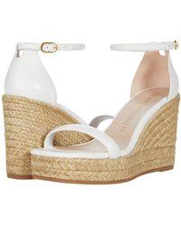 Stuart Weitzman Nudist Espadrille Wedge Shoes - White