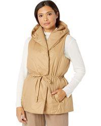 Eileen Fisher Hooded Vest - Multicolor