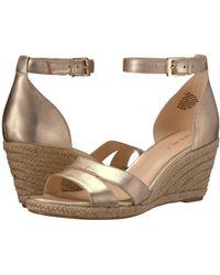 84874ec4553c Nine West - Jabrina Espadrille Wedge Sandal (black) Women s Shoes - Lyst