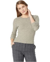 Nally & Millie - Brushed Ribbed Long Sleeve Top (taupe) Women's Clothing - Lyst