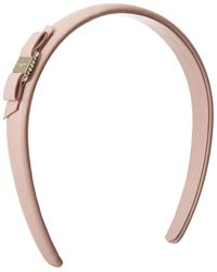 Ferragamo Skinny Crystal Vara Bow Headband - Pink