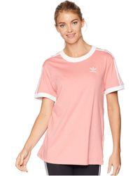 adidas Originals - 3 Stripes Tee (night Cargo) Women s T Shirt - Lyst 4d633de6f