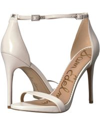 Sam Edelman Women's Ariella High - Heel Ankle Strap Sandals - White