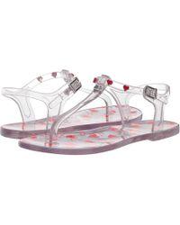17c44c139f5b Love Moschino - Transparent Pvc Sandal With Heart Detailing (transparent)  Women s Sandals - Lyst