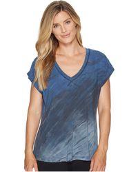 Hard Tail - Slouchy V-neck Short Sleeve Tee (diagonal Rainbow Horizon 6) Women's T Shirt - Lyst