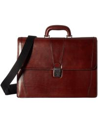 Bosca - Old Leather Collection - Double Gusset Briefcase (dark Brown Leather) Briefcase Bags - Lyst