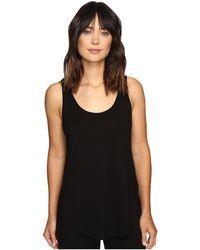 Lilla P Pima Modal Shirttail Scoop - Black