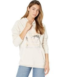 Volcom Truly Stoked Boyfriend Hoodie Clothing - Natural
