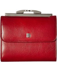 Bosca Old Leather 4 French Purse - Red
