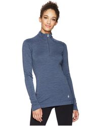 Smartwool - Nts Mid 250 Baselayer Zip Top (lochness Heather) Women's Long Sleeve Pullover - Lyst