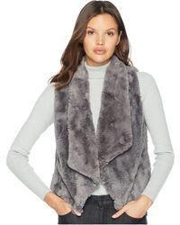 Jack BB Dakota - Big Softy Soft Faux Fur Drape Front Vest (december Sky) Women's Vest - Lyst