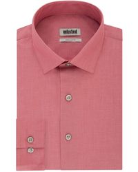Kenneth Cole Dress Shirt Regular Fit Solid - Red