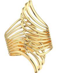 Nina Cut Out Wing Hinge Bracelet - Metallic