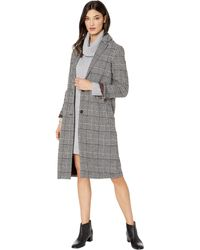 Cupcakes And Cashmere Oxford Long Yarn-dyed Checked Coat - Brown