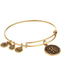 ALEX AND ANI - Initial H Charm Bangle - Lyst
