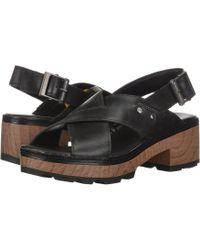 Caterpillar - Lia Adjustable Back Strap Leather Cris Cross Heeled Sandal - Lyst