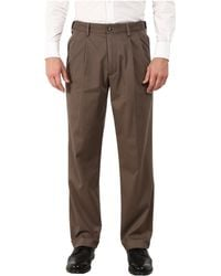 Dockers - Comfort Khaki Stretch Relaxed Fit Pleated ( Navy) Men's Casual Pants - Lyst